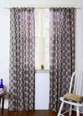 Chain Link - Grey Curtains (50% off)