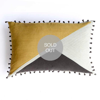 triangle khadi pillow cover