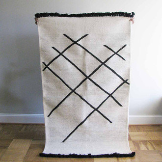 Cross Hatch Dhurrie Rug