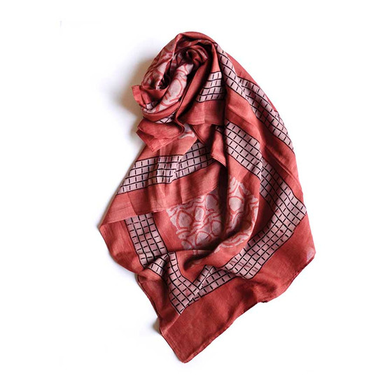 coral red scarf LIGHT