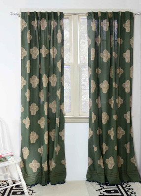 Kalam Curtain Green