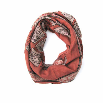 coral red skinny scarf