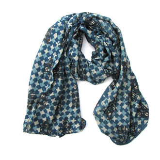 blue tiles indigo scarf