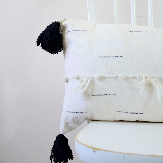 white lumbar pillow
