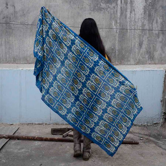 hand printed scarf