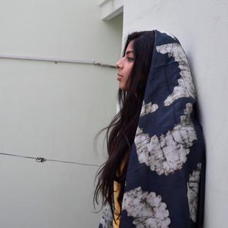bold black handmade scarf