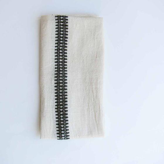 black and white napkins