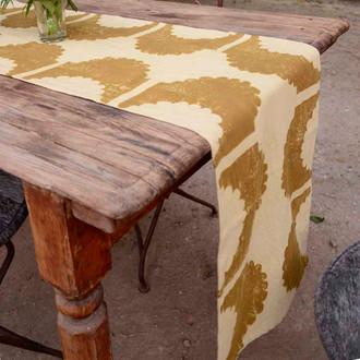 organic cotton table runner