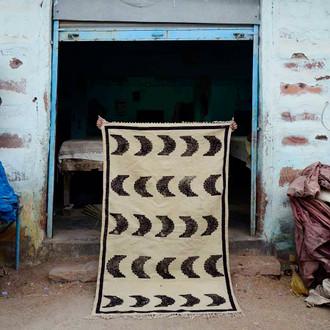 Sunset Cotton Block print Rug