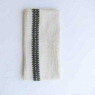 black and white napkins