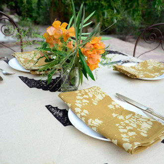 Golden table napkins