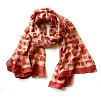 unique designer coral scarf