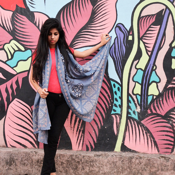 bohemian style handmade scarf