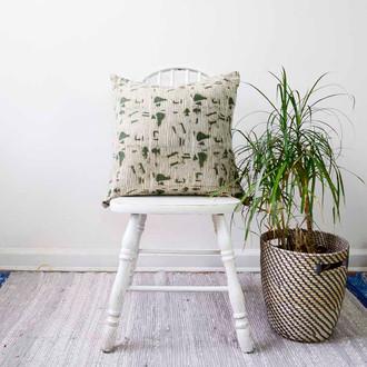 green home decor accent pillow