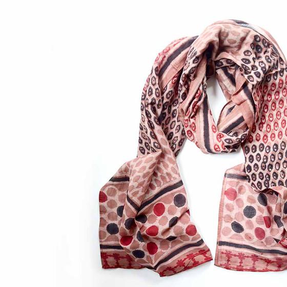 pink maroon scarf