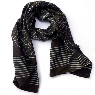 indian scarf in black