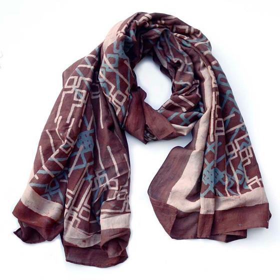 purple fall scarf