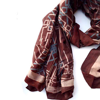 large printed scarf