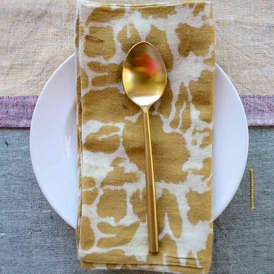 lemon cloth napkins