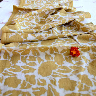 mustard yellow table runner