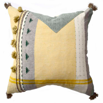 "large 22"" organic cotton pillow"