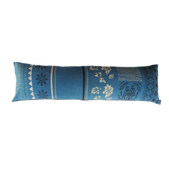 teal lumbar pillow