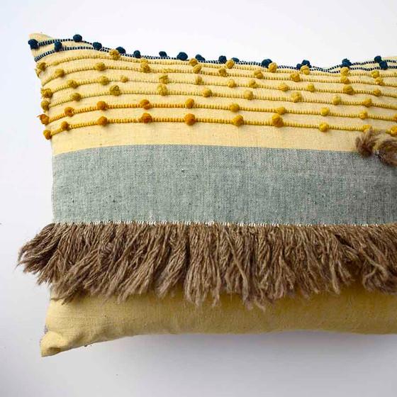 textural oblong throw pillow