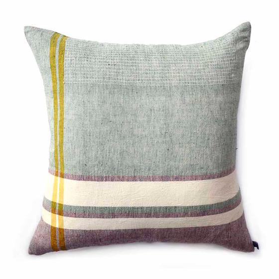 sea foam large square throw pillow