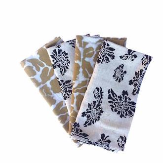 mustard yellow mix match cloth napkins