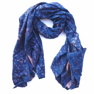 blue handmade scarf
