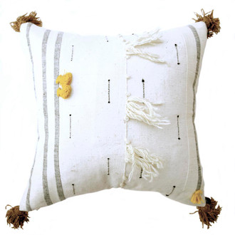 Scandinavian style textured pillow