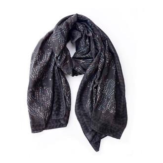 black white designer scarf