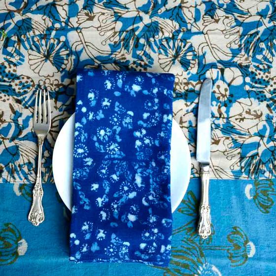 indigo cloth napkins for wedding