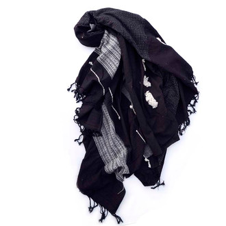 Black textured organic cotton throw