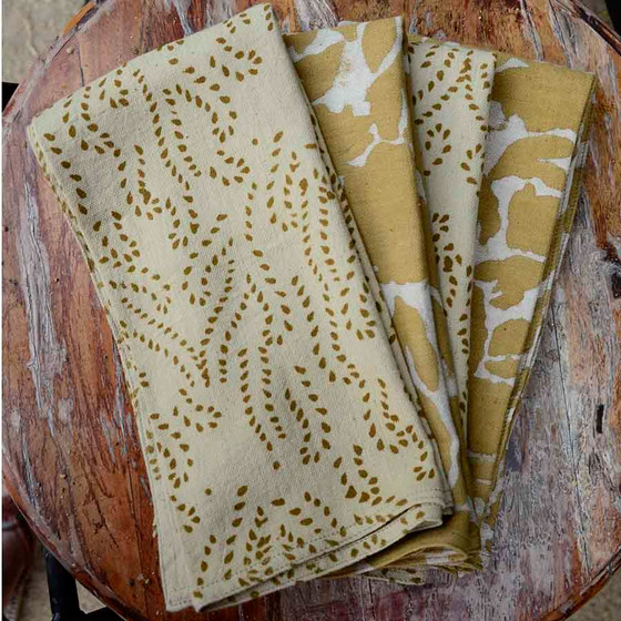 gold and yellow luxury napkin set