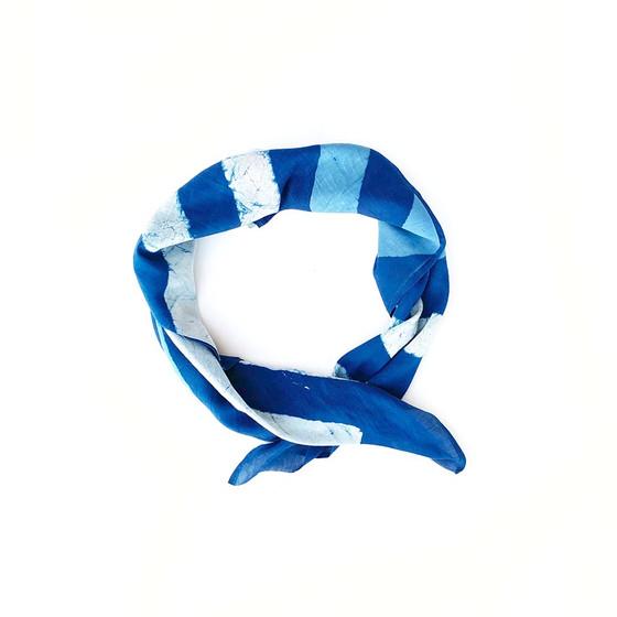 blue stripe bandana