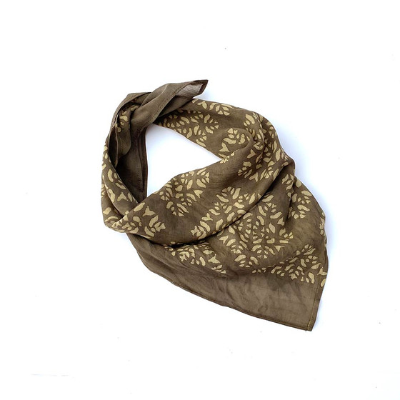 brown gold head wrap