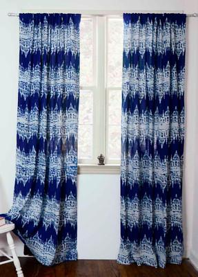 blue ikat curtains