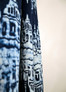 navy blue ikat curtains