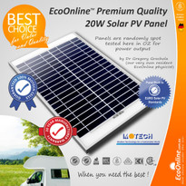 20W 12V Solar Panel (with Motech cells)