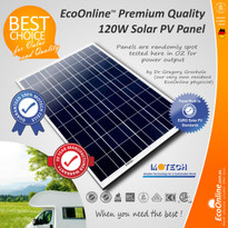 120W 12V Solar Panel (with Motech cells)
