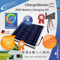 ChargeMaster Regulator - 20W Watt Solar Panel Battery Charging Charger Kit