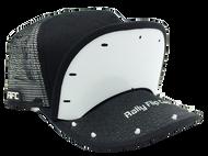 Plain White Interior Trucker Flip Cap