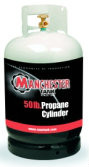 50 lbs (11.4 Gallon) Manchester Propane Tank without Gauge