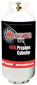 40 lbs (10 Gallon) Manchester Propane Tank with OPD & Gauge