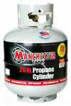 20 lbs (5 Gallon) Gray Portable Propane Cylinder without Gauge