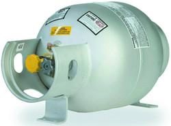 20 lbs (5 Gallon) Manchester Aluminum Propane Horizontal Cylinder