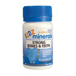 Schuessler Tissue Salts Kidz minerals Strong Bones & Teeth 100tab