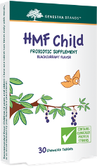 HMF Child Probiotic Formula Blackcurrant Flavor 30 chew tabs