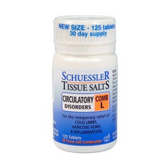 COMB L: Circulatory Disorders Schuessler Tissue Salts 125 tab